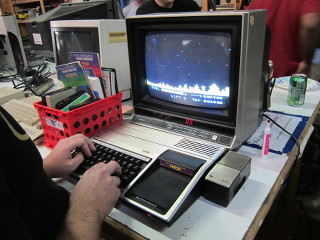 TI-99/4a playing Parsec